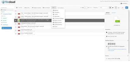 FileCloud - Übersicht
