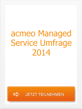 acmeo Managed Service Umfrage